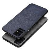 Pour Samsung Galaxy S20 Ultra Case Bakeey Anti-empreintes digitales Coton Tissu PU Housse de protection en cuir