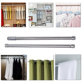Adjustable Stainless Steel Tension Shower Curtain Straight Rod