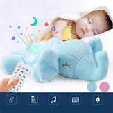 Baby Infant Toys Elephant Comfort Toy Hypnosis Projection Lamp Animal Music Light Stuffed Plush Toy