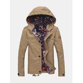 Pánská jarní bunda s kapucí na zip s kapucí s dlouhým rukávem