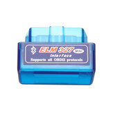 V1.5 Mini ELM327 OBD2 II Bluetooth Car Diagnostic Tool Auto EOBD Scanner para Android Phone Blue
