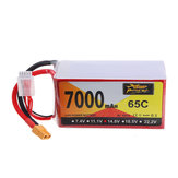 ZOP Power 14.8V 7000mAh 65C 4S Lipo Batería XT60 Enchufe para RC Racing Drone