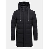 Mens Winter Mid-long Windproof Thick Warm Coat Hooded Parka