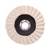 Drillpro 130 ملليمتر stianless الصلب الصوف ورأى رفرف تلميع عجلة قرص زاوية طاحونة التلميع منصات ل الطبية الزجاج الرخام المعدنية