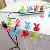4 szt. Kabel do nawijania przewodu Przechowywanie kabli Pulpit W kształcie królika Spinacze Drut Organizator Oszczędność miejsca Akcesoria na biurko Artykuły biurowe
