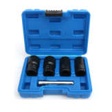 Drillpro 5 Piece Twist Socket Set Lug Bolt Nut Remover Extractor Tool 17MM to 22MM Metric Bolt and Lug Nut Extractor Socket Wrench Tools
