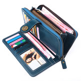 Cash Card Holder Clutch Zip Purse Handbag Women Genuine Leather Long Wallet