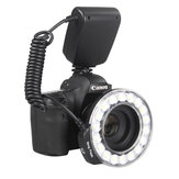 Travor RF-600D 3000K-9000K Universal Macro LED Ring Flash فيديو ضوء for Canon for Nikon for Sony DSLR الة تصوير