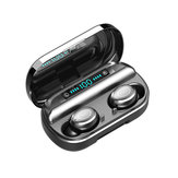 V9 TWS Wireless bluetooth 5.0 Earphone 4000mAh LED Battery Display Touch Control IPX7 Waterproof 9D Surround Sound Headphones with Charging Case
