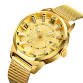 SKMEI 9166 Business Gold Stainless Steel Date Men Watch