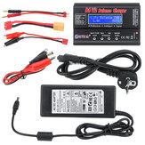 HTRC B6 V2 80W 6A DC 1-6S Bateria Balance Charger Discharger Black With Power Supply