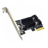 ITHOO PCE6SAT-M01 2 ports SATA3.0 SSD PCI-E Expansion Card 6Gbps IPFS Hard Disk Marvell Master for Desktop Computer