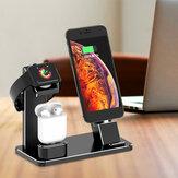 Đế sạc hợp kim nhôm 3 trong 1 Đế giữ điện thoại Giá đỡ đồng hồ cho iPhone Apple Watch Apple AirPods