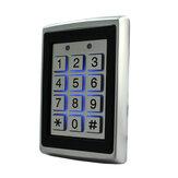 125Khz EM ID Metal Caso Fechadura da porta do abridor de portão RFID Teclado de controle de acesso do leitor com luz de fundo