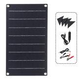 10W ETFE Solar Panel Su Geçirmez Araba 4 Koruyucu Köşe ile Acil Durum Şarj Cihazı