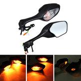 Çifti Motosiklet Dikiz Aynaları Honda CBR1000RR 2008-2013 Için Sinyal Işık Açın
