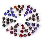 7Pcs Galaxy Polyhedral Dices For Dungeons Dragons Games D20 D12 D10 D8 D6 D4 + Sac