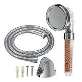 Bathroom High Pressure Shower Head HandHeld Adjustable 3 Mode Filter Stone