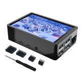 3.5 بوصة LCD لمس شاشة TFT مراقب with Case Heatsink for Raspberry Pi 4 / 4B