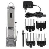 Rasoir électrique sans fil professionnel avec tondeuse à cheveux rechargeable électrique LED avec 4 peignes de limite