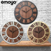 Emoyo ECY016 Wooden Craft Roman Digital Wall Clock For Home Office Decorations