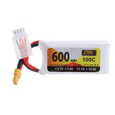 ZOP Power 11.1V 600mAh 100C 3S Lipo Battery XT30 Plug for Eachine Lizard95 FPV Racer