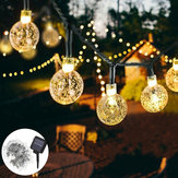 10 M 2 Modos 80LED Bolha Bola Solar String String Luz Ao Ar Livre Indoor Garden Party Christmas Lamp