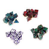 7 PCS Metal Polyhedral Dices Set Para Dungeons and Dragons Dice Desktop Table RPG Game