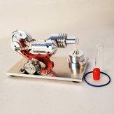 Actualizar Red Stirling Motor Generador Motor Micro Motor Modelo Steam Motor Hobby Regalo de cumpleaños