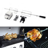 4W Stainless Steel Rotisserie BBQ Spit Rod Grill Roaster Camping BBQ Tools Set
