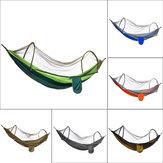 210T Nylon Hangmat Ourdoor Camping Travel Hangbed met klamboe