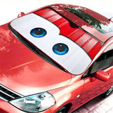 Eyes Heated Windshield Sunshade Curtain Car Window Windscreen Cover Auto Sun Visor UV Protection