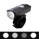NQY 0112# 350LM 300M 120° Large Floodlight 4Modes USB Rechargeable Bike Headlight Poratble Mini IPX6 Waterproof Riding Bicycle Light