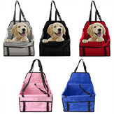 Tas portabel Pet Dog Car Carrier Kursi Belt Penguat Tahan Air Keranjang Keselamatan Mesh Hanging Bag