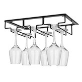 Wall Mount Glass Rack Holder Hanging Under Cabinet Hanger Iron Shelf 4 Type