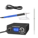 T12 LED Soldering Station 8S Quick Heating Electronic Welding Iron 200-450℃ 100-240V with 9501 Handle