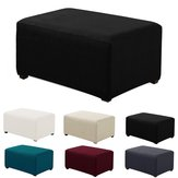 Stretchy Fabric Hocker Cover Square Ottoman Protector Stretch Schonbezug für Home Sofa