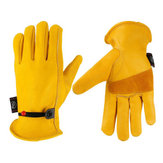 Pair Motorcycle Riding Gloves Garden Work Protect Heavy Duty Thorn Proof Work Windproof