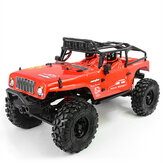 CJ10 dla Caster 1/10 2.4G 4WD RC Electric Electric Off-Road Rock Crawler Vehicle with LED Light Model RTR
