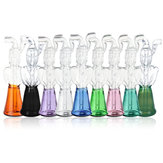 Mini Glas Wasserpfeife Borosilikatglas Schwarz / Smaragd / Grün / Lila / Pink / Klar / Blau / Gelb