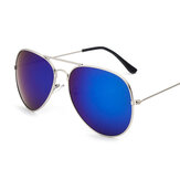 Retro Aviator Pilot Glasses Sunglasses Reflective Color Film
