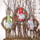 Hanging Non-Woven Hat With Heart Rattan Swedish Santa Gnome Handmade Figurine Home Ornaments Christmas Decoration Toys Table Decor