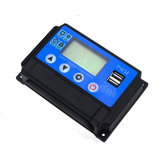 12V/24V 10A/20A/30A/40A/50A Solar Charge Controller PWM Battery Charging Big LCD Display