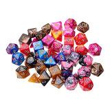 42Pcs Polyhedral Dice Set Multi-sied Dices Para Dungeons & Dragons DND MTG RPG D4-D20 Jogo + Bolsa
