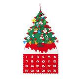 Feltro diy árvore de natal calendário do advento crianças artesanato brinquedo pendurado decorações