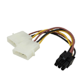 Alimentation PC double carte graphique PCI-E 4 broches à 6 broches Câble d'alimentation SATA Câble d'alimentation