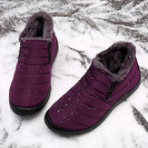Women Water Resistant  Warm Casual Snow Slip On Ankle Boots