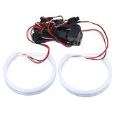 131MM Halo Ring Cotton Light LED Angel Eye Pour BMW E36 3 Series E38 E39 E46 Lumières De Voiture