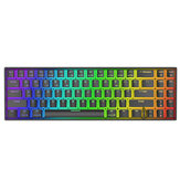 Royal Kludge RK71 71 Tombol Keyboard Gaming Mekanis Mode Ganda bluetooth 3.0 + Keyboard Mekanik RGB Berkabel USB