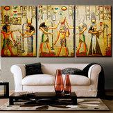 Miico Handgemalte Drei Kombination Dekorative Gemälde Cleopatra Porträt Wandkunst Für Hauptdekoration